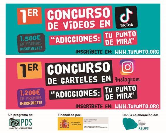 1er concurso de vídeos en TikTok y 1er concurso de carteles en instagram -