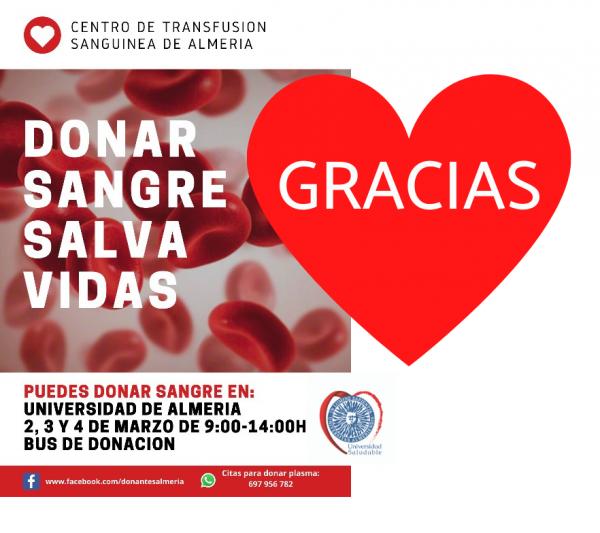 Donación de sangre: agradecimiento a la comunidad universitaria